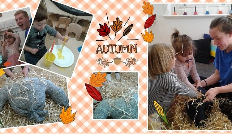 Toddlers explore the Harvest festival