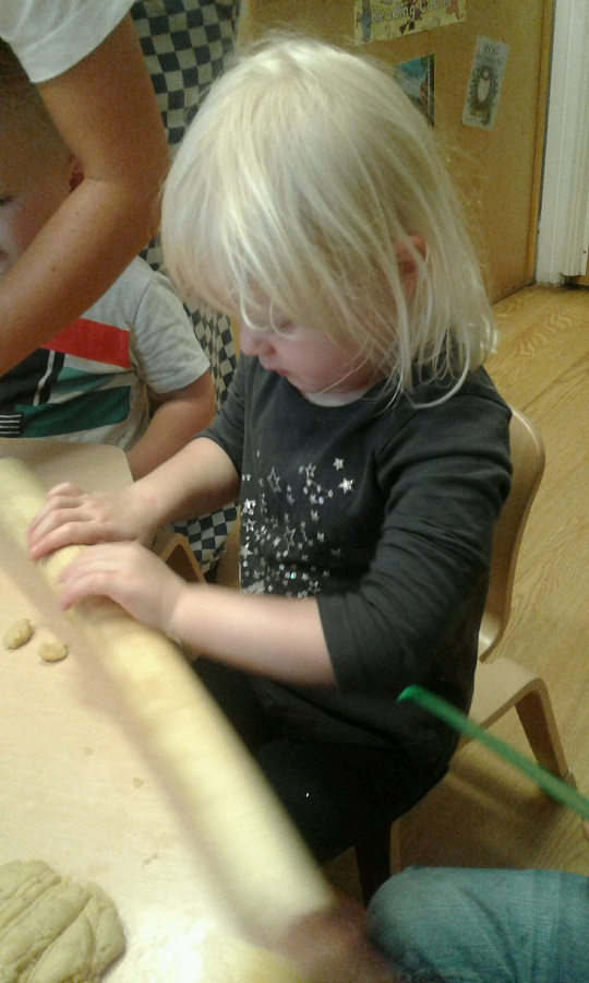 Preschool make biscuits at Stourbridge nursery