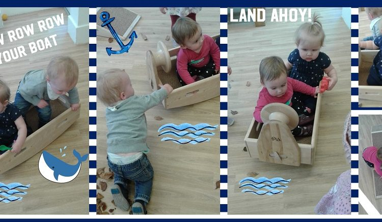 The babies explore the Toddle Waddle