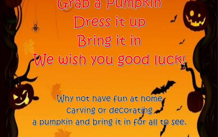 Pumpkin Competition – join in by 2nd November!