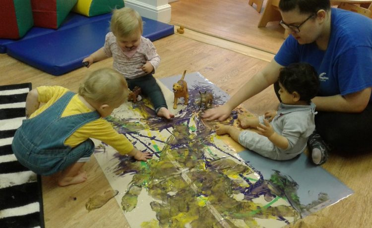 Messy play for the babies