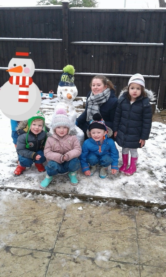 Preschool have loved exploring the snow today!
