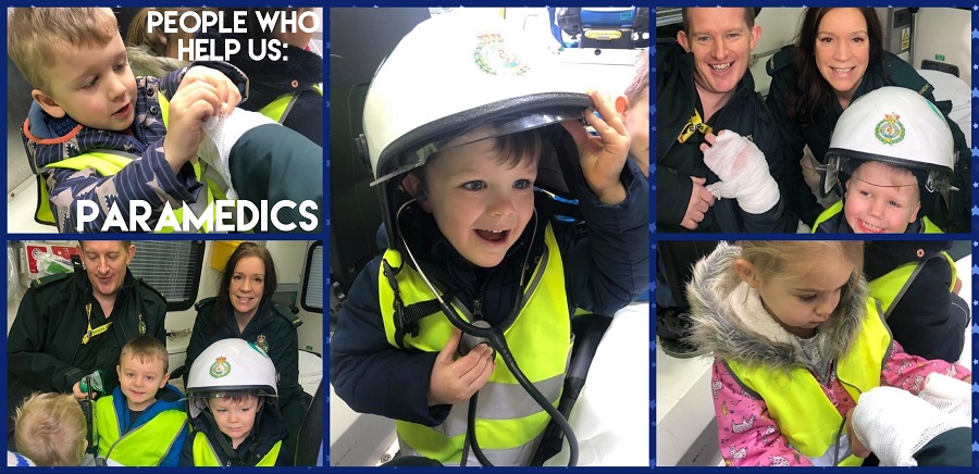 The Bromsgrove children enjoyed a real treat when a paramedic came to visit