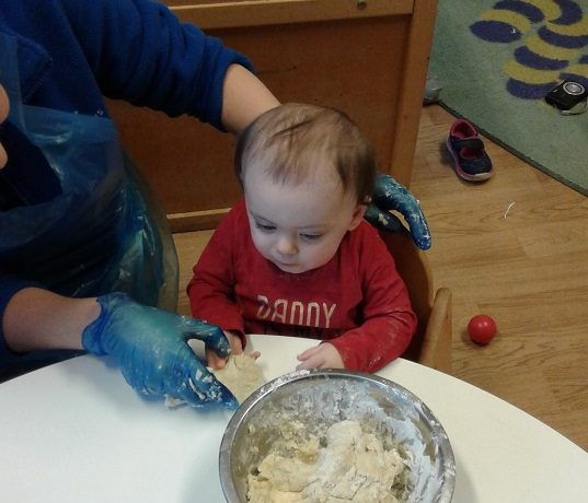 Pizza making in the Baby room
