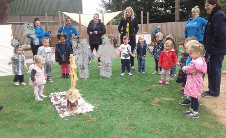 Preschool's volcano goes off with a bang!