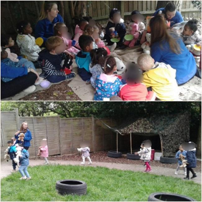 Yesterday the babies enjoyed another sensory activity.