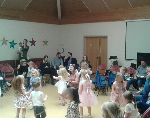 The graduation party for the preschool children was a big success