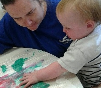 Gloucester – Sensory play in the Baby room