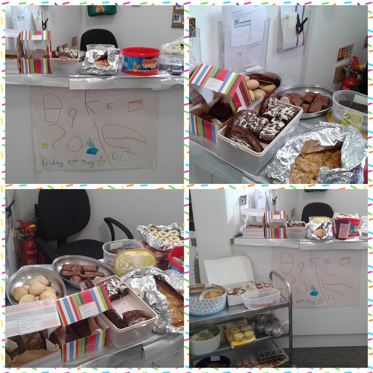 Last Friday, we held a charity cake sale at Shooting Stars Stourbridge.