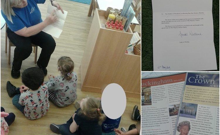 Hinckley – Preschool 2 receive a letter from the Queen!