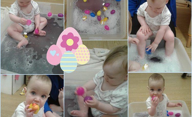Worcester – Babies Easter sensory play