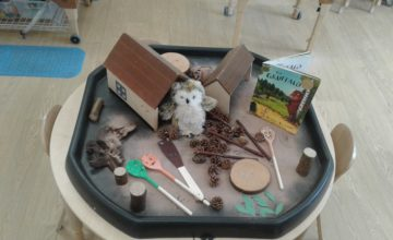 Today in Worcester preschool the children have really enjoyed making the Gruffalo story come to life!