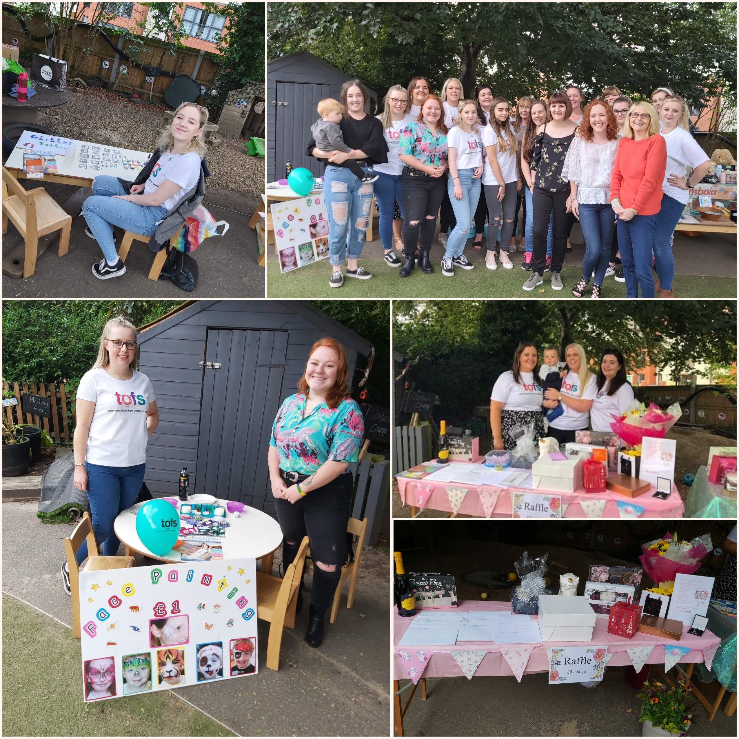 On Saturday we held the Hinckley Summer Fete, raising money for our chosen charity TOFS, (trachea oesophagus fistula support) to support a little boy in our care.