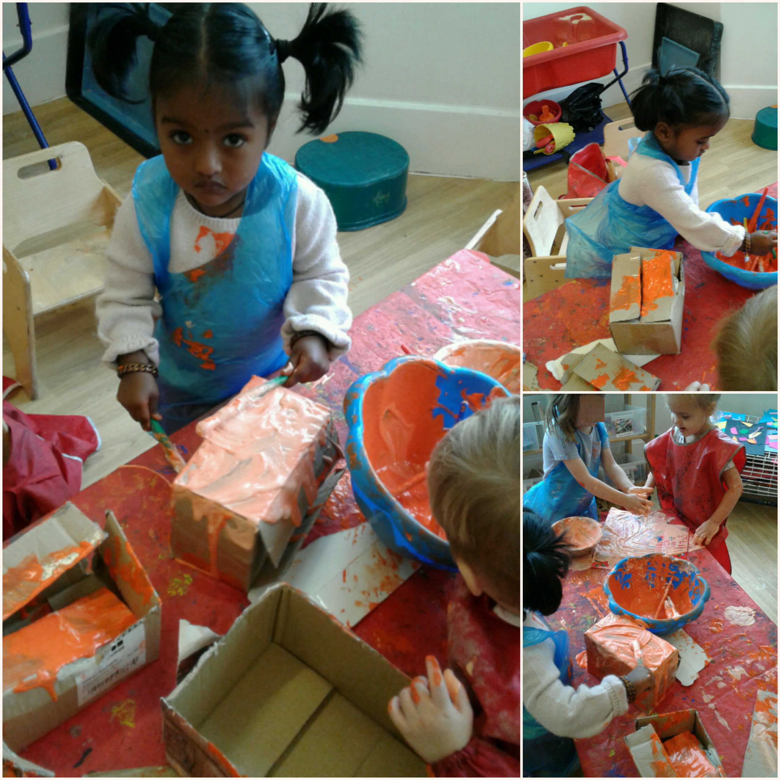 Imaginations have been flowing in the Hinckley pre school with loose parts play