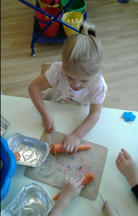 The pre school children have been enjoying National Allotment Day.