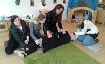 As part of our commitment to keeping each child safe, healthy and happy at Shooting Stars Nurseries, every staff member is Paediatric First Aid trained.