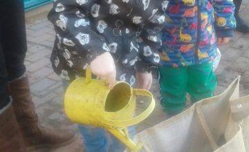 Kings Norton Pre-school have been very busy out in the garden planting some vegetables in their own vegetable patch,