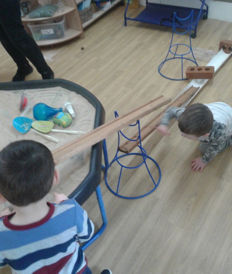 Clever construction has been spotted in Hinckley Pre-school - The children have been super busy searching for and working out which objects and what combinations can make the best marble run!