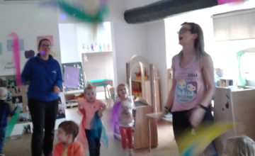 Pre-school children and staff both really enjoyed our Stellissa Fitness session today.