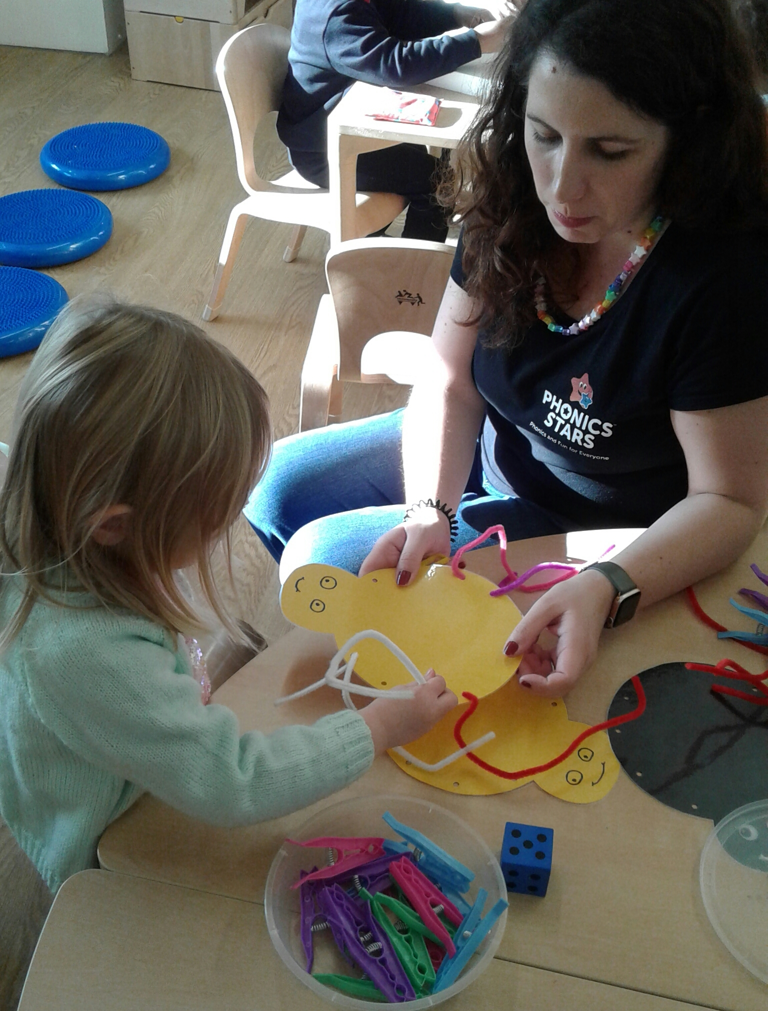 "Pre-school children and staff thoroughly enjoyed their ""Phonics Stars"" class today, incorporating letters and phonics into fun educational activities."