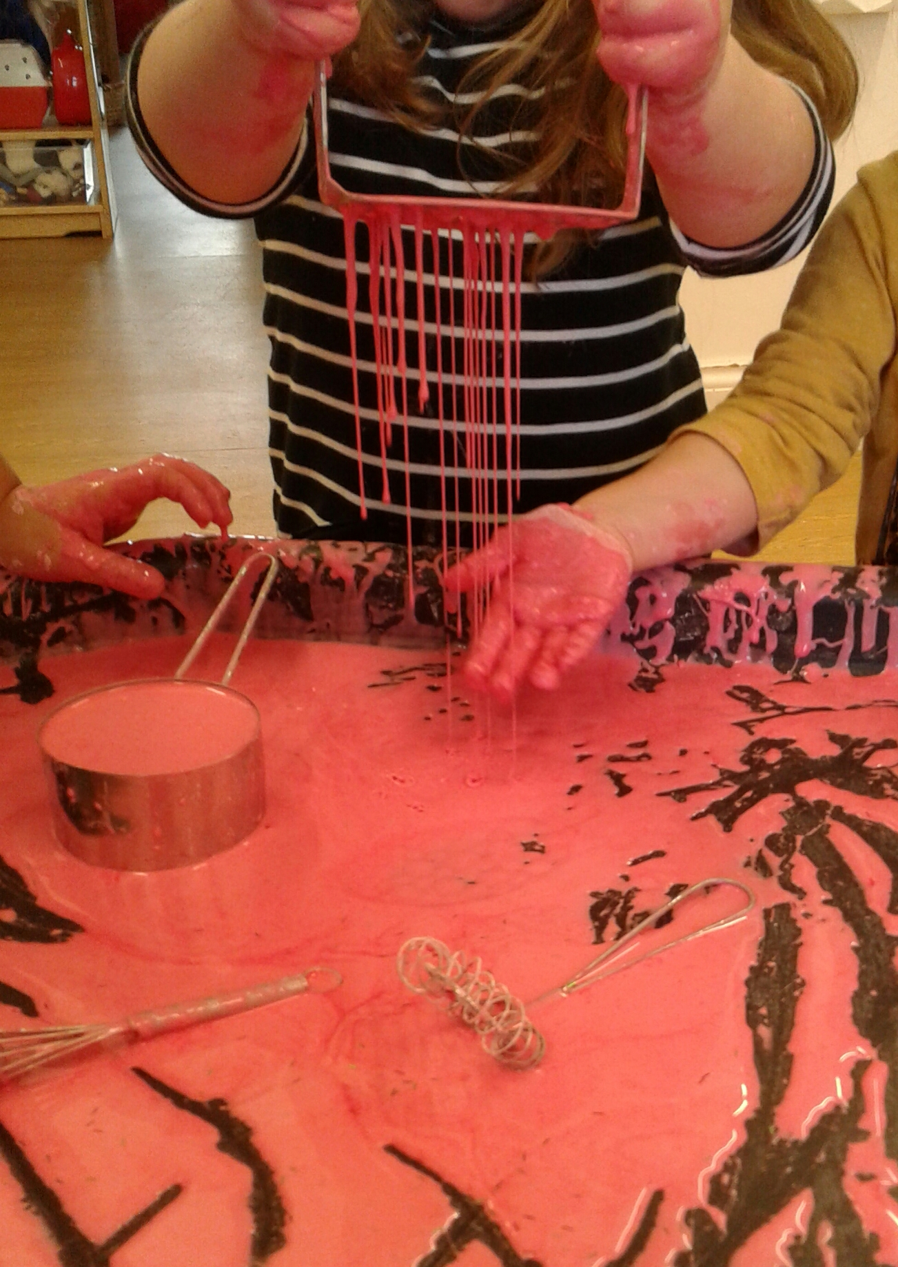 Today Worcester Pre-school have really enjoyed getting messy and exploring gloop!