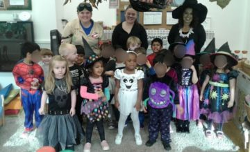 Pre-school have been enjoying all the freaky fun of Halloween!