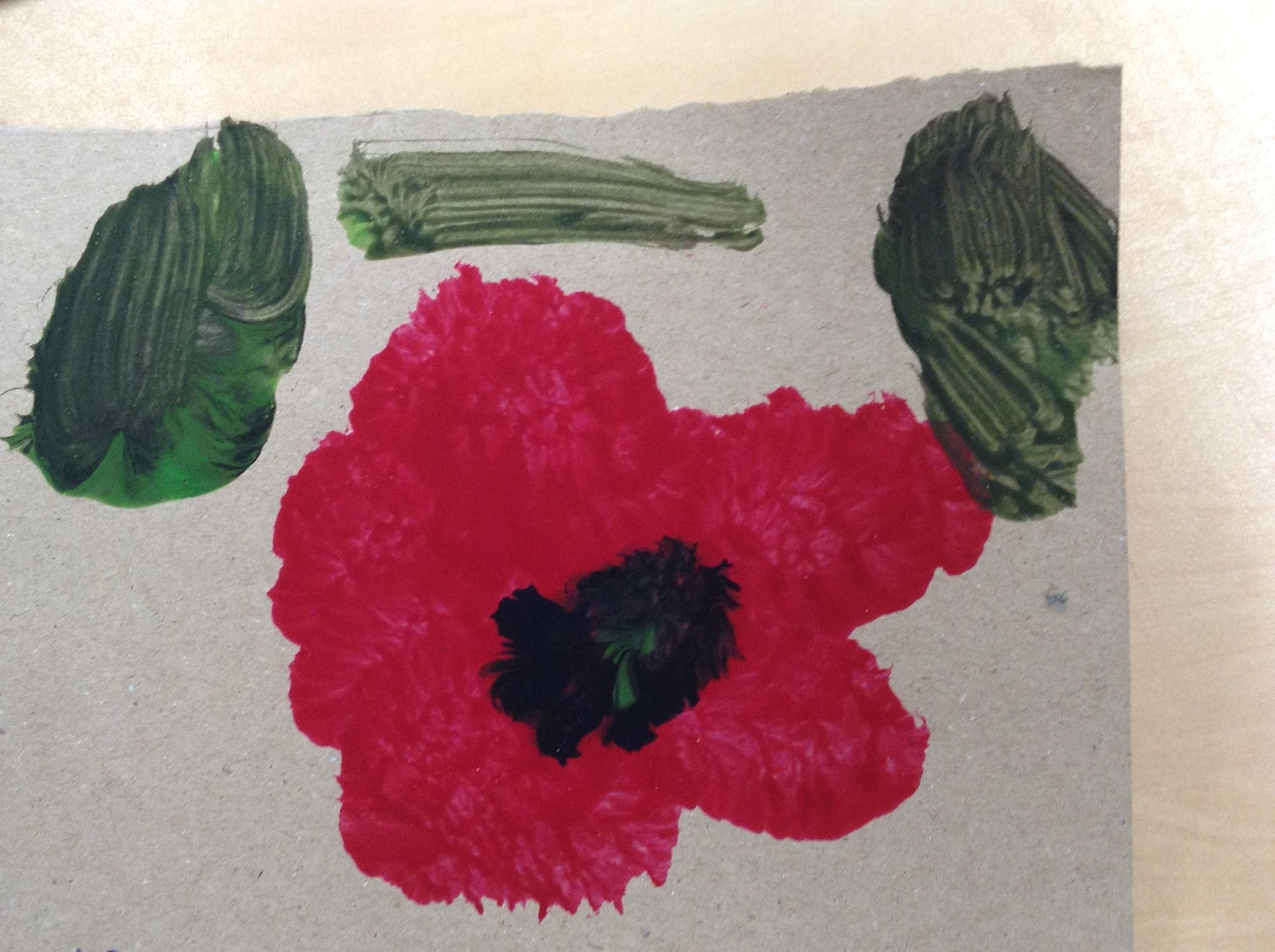 Yesterday Pre-school participated in a 2 minute silence to remember the fallen soldiers.