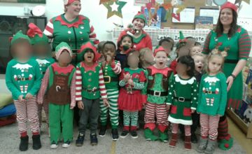 Pre-school are busy little elves!