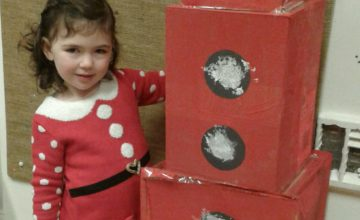 Pre-school one have really enjoyed getting ready for Christmas by making their own Christmas grotto.