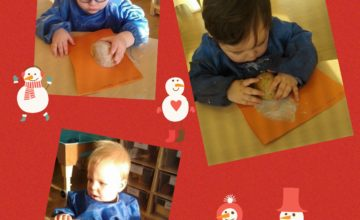 This week the Babies and staff at Kings Norton have started getting messy with Christmas crafts.
