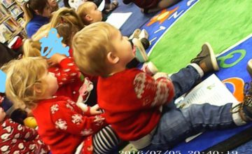 Last week the Babies & Toddlers went on their Christmas trip at the local library.