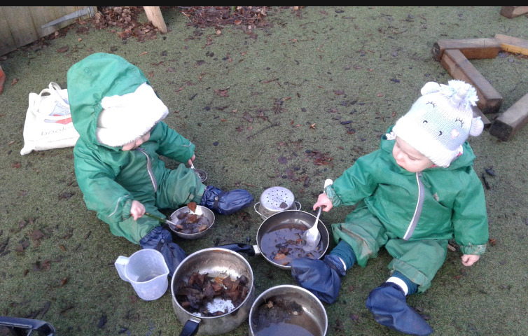 This month the babies have enjoyed wrapping up warm and exploring the outdoors