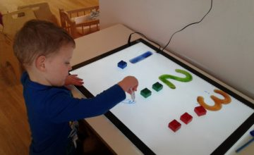 Exploring numbers on the light board!