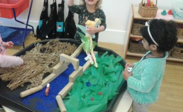 This week Pre-school 1 have been exploring the story Three Billy Goats Gruff.