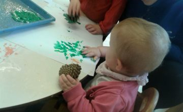 The Babies have been using their senses and exploring different natural objects.