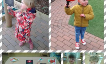 This week Pre – School have been learning about road safety, looking closely at being safe in the car and when crossing the road.