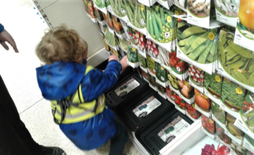The children in Pre-school 1 enjoyed a trip to the shops, going on a hunt for some seeds to plant.