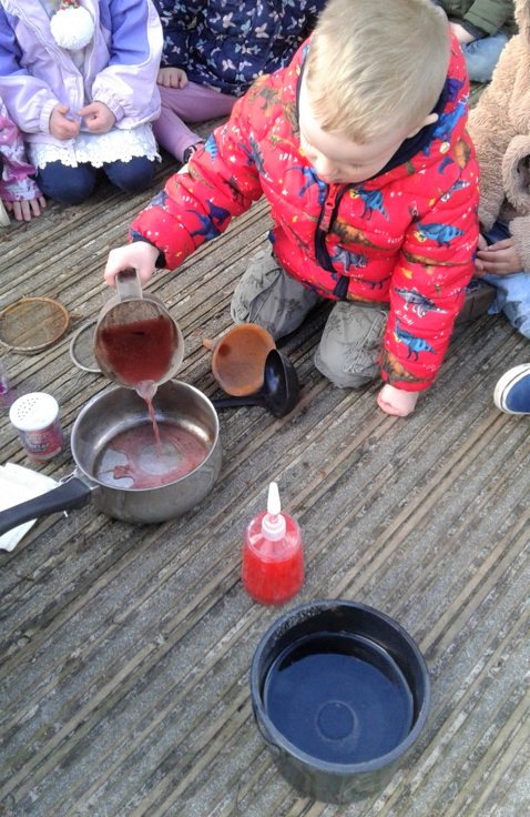 Stourbridge Pre-school have been getting creative in the garden potion making!