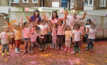 Colourful Holi celebrations took place at Wolverhampton today.