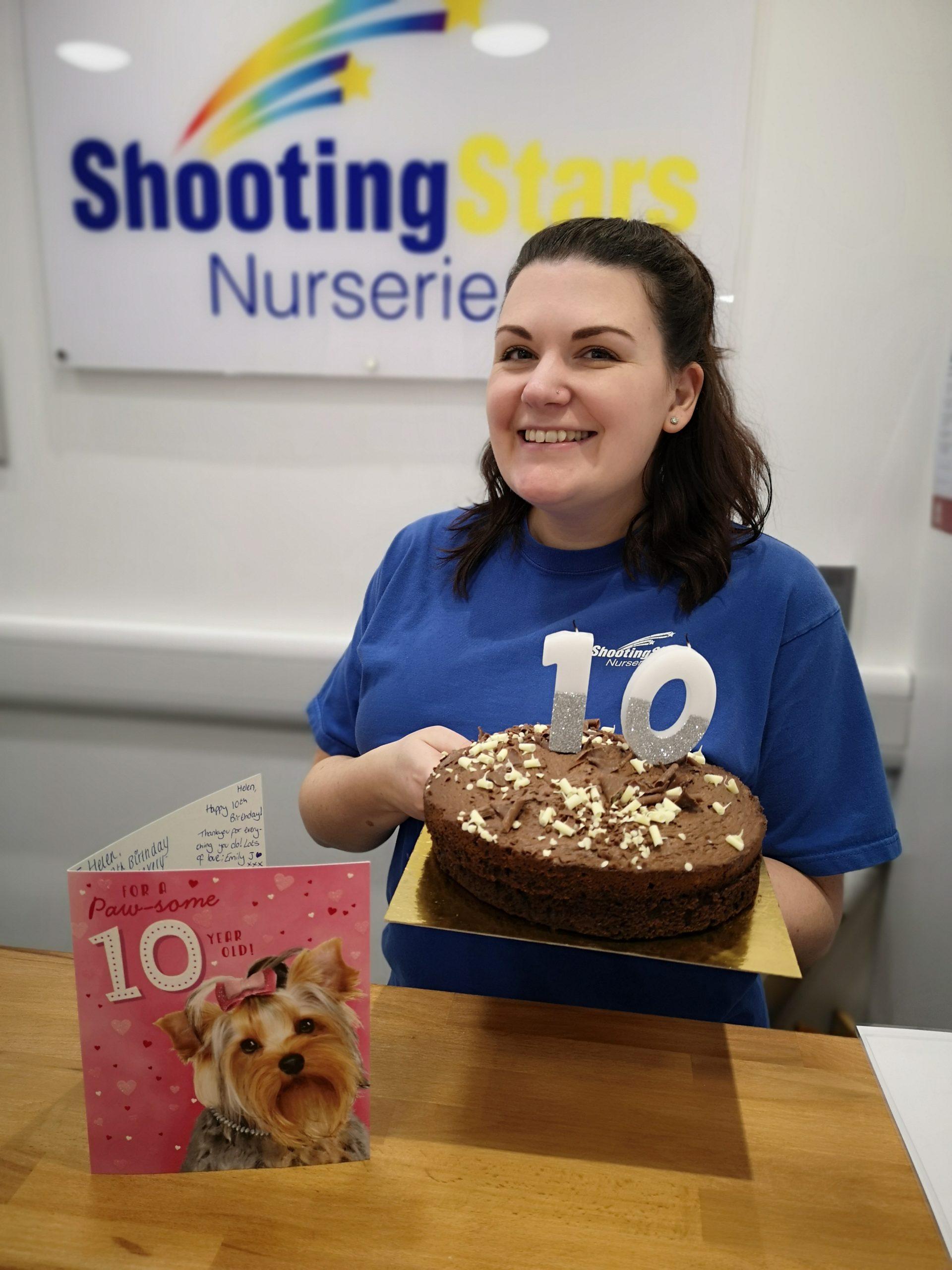 A huge congratulations to Helen from Bromsgrove Nursery, she is celebrating 10 years as part of the team at Shooting Stars Nurseries!