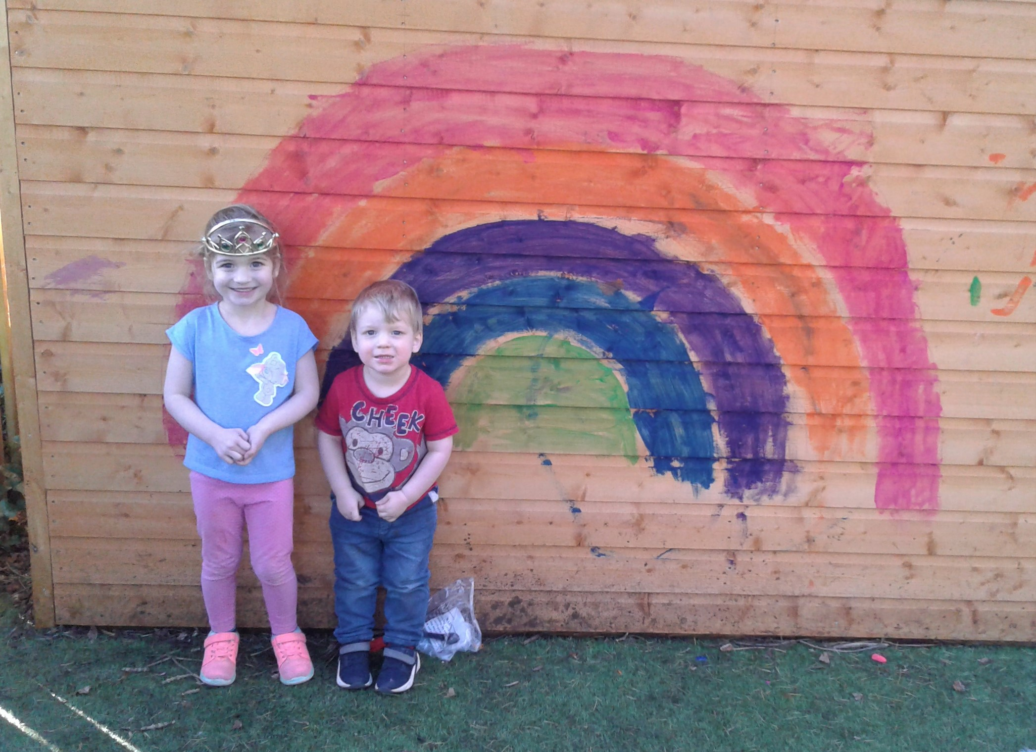 Wow what fun we have had creating our own rainbow masterpieces!