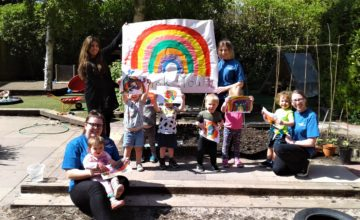 Today we had lots of fun using all the different colours of the rainbow to create our fantastic bright designs!