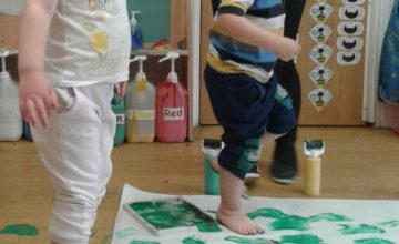 What fun we have ha painting with our feet!