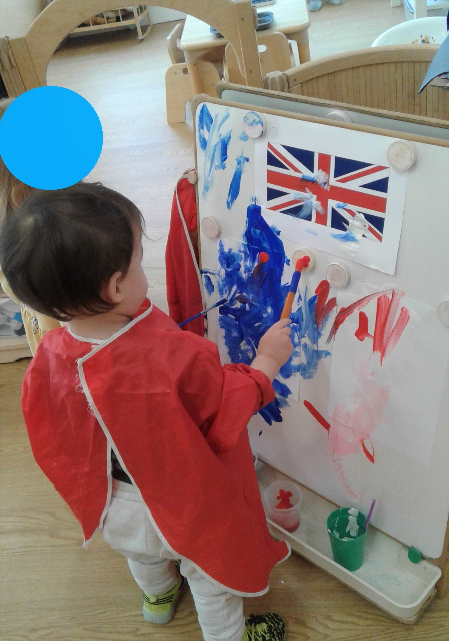 At nursery today we celebrated and learned more about VE day!