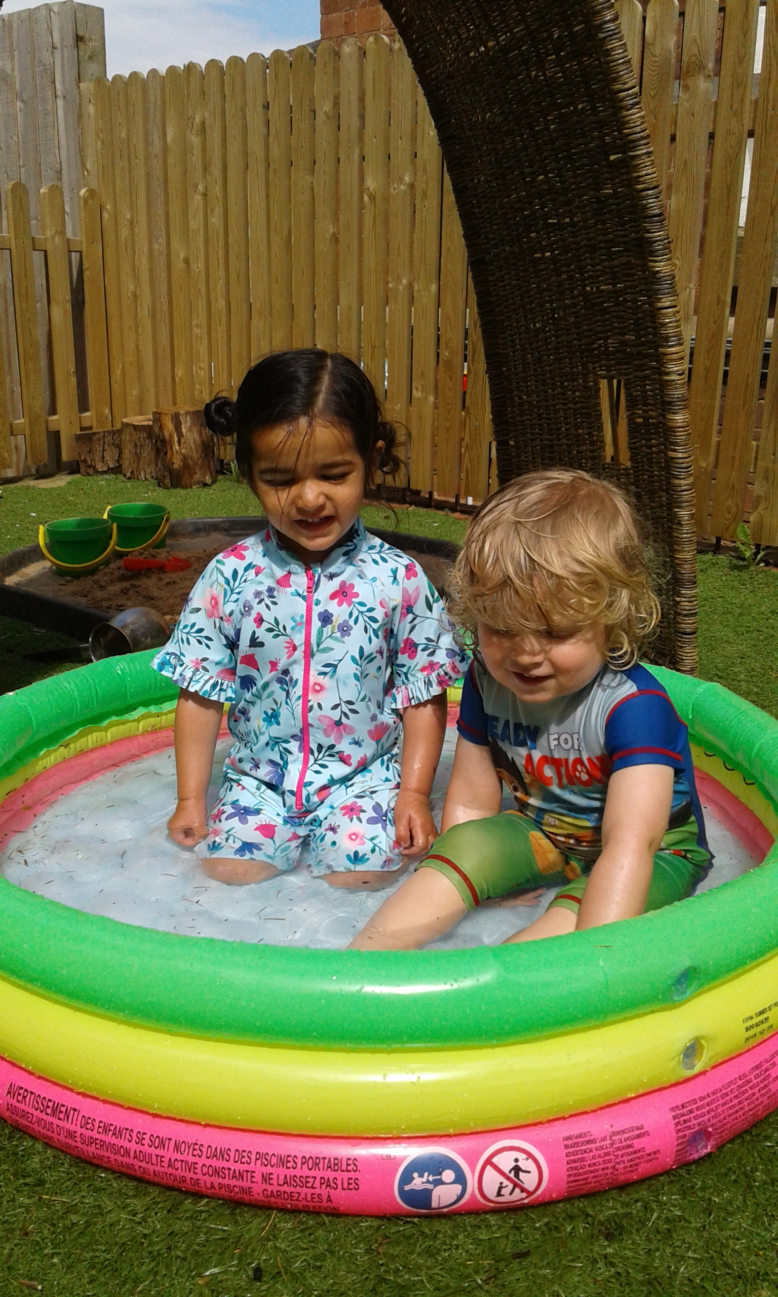 The Children at Worcester Shooting Stars have been having a sensational time splashing around in their very own water park.
