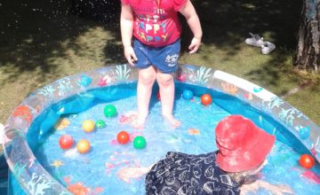 During the lovely weather we have been really enjoying water play!
