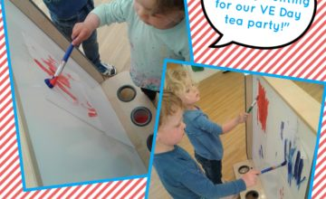 Today we have been creating beautiful bunting ready for our VE Day tea party this Thursday.