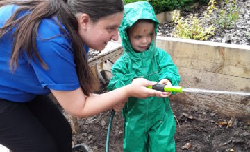 Pre-school had so much fun playing in the mud kitchen today!