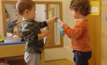 The Toddlers have been creating their own sensory bags.