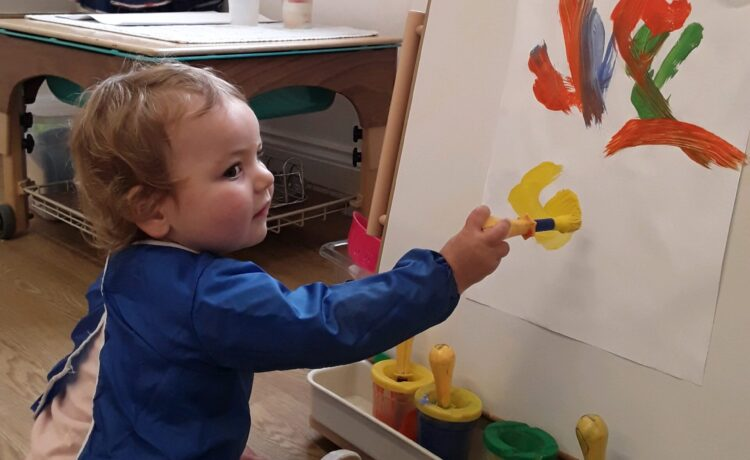 Kings Norton – Getting Messy And Creative In Pre-Toddlers